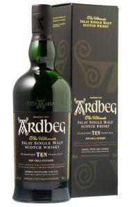 1 x Whisky Ardbeg Single Malt Non Chill-Filtered 10 y. 46% Vol. 70 cl