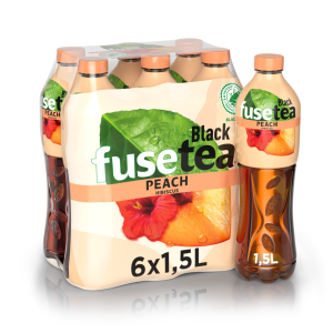 6 x Fuse Tea Peach Hibiscus Pet Schrumpfpackung 150 cl