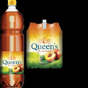 6 x Queen's Ice Tea Peach Pet Schrumpfpackung 150 cl